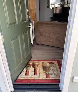 """The doorway with screen closed is 32""""."""