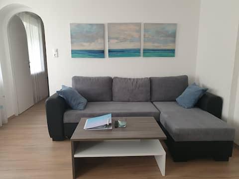 Teraszos apartman, kilátással a kertre Linz közelében