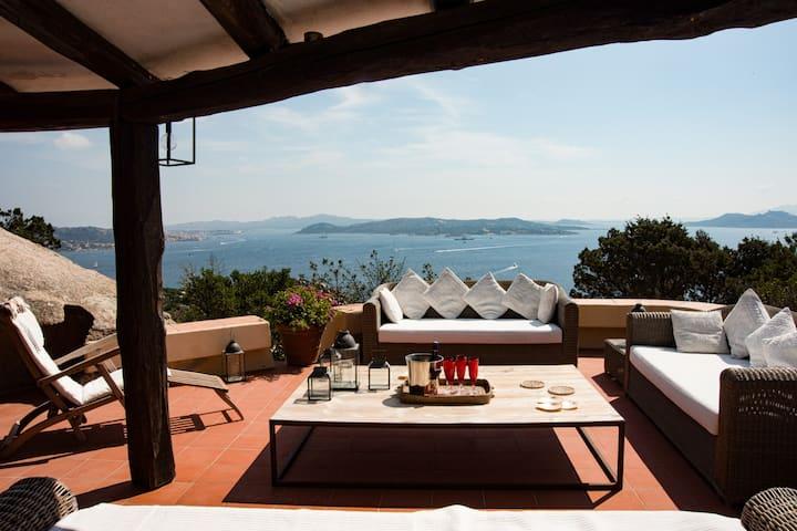 Top view Villa in Porto Rafael