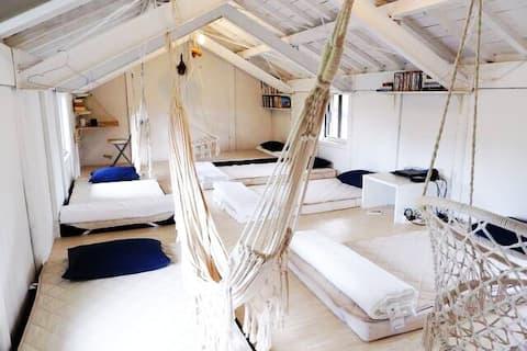 Unique house! hammocks, movie,music,hookah!