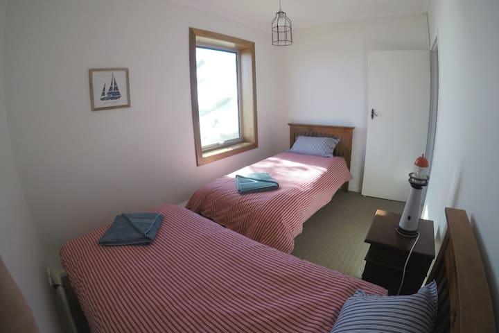 Bedroom 2 overlooks the sea
