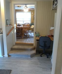 Entry to dining room. The only inside steps.