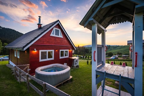 Comfortable cottage in beautiful Slovak hills.
