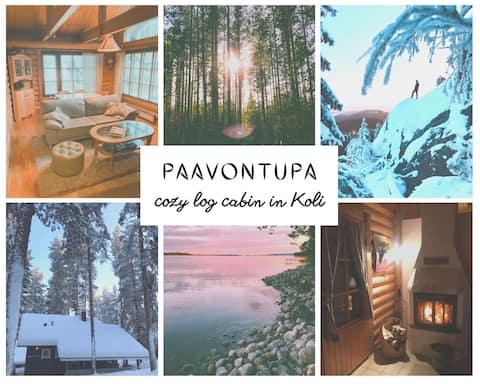 Paavontupa, Cozy Log Cabin near Koli National Park