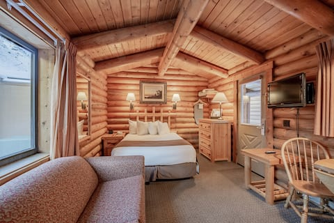 Queen Studio Log Cabin