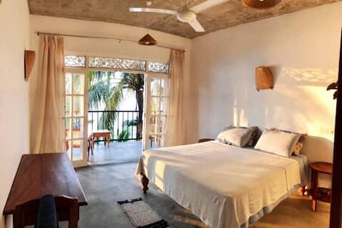 * Habitación AC a largo plazo, vista al mar, playa, cocina*