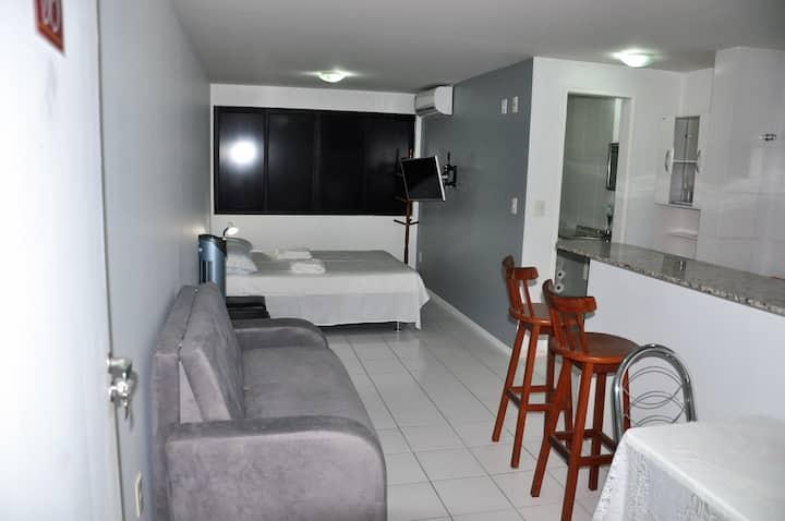 Apartamento na Praia de Cruz das Almas com Piscina
