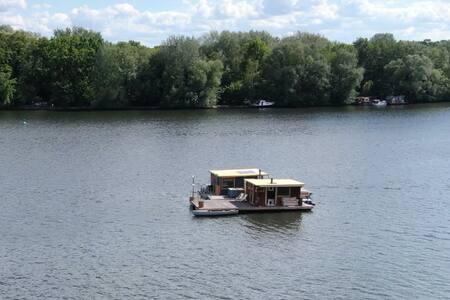 ♥ Die eigene Insel ♥ incl. Hausboot Sauna Tretboot