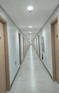 Hallway going to the unit