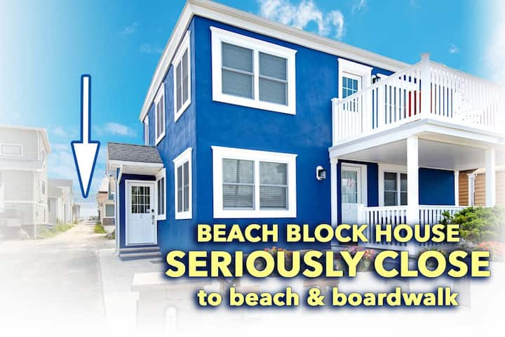 Stylish 3 BR, steps to beach, w/ linens, parking, & beach tags