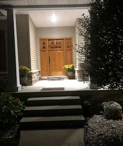 We keep the outside garage lights and porch lights on for you at night.