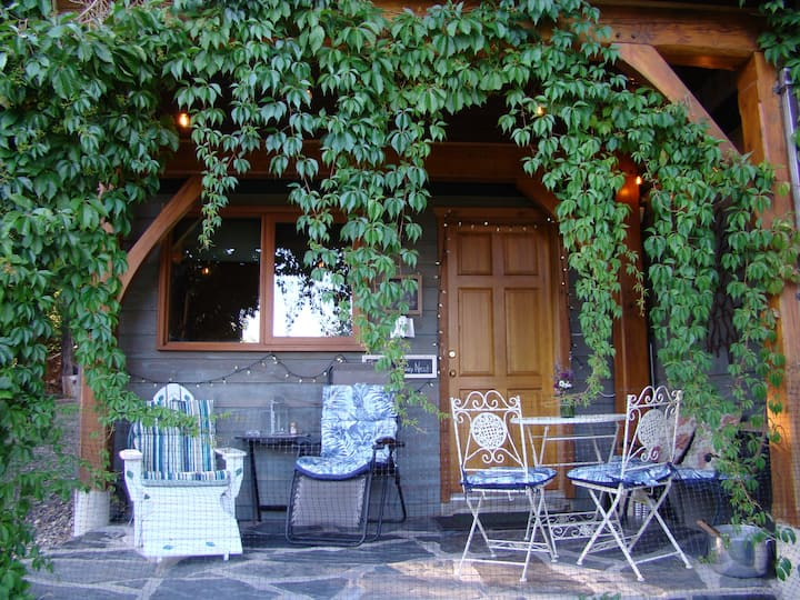 Lake-View Cozy Nest tiny-suite, patio &  fireplace