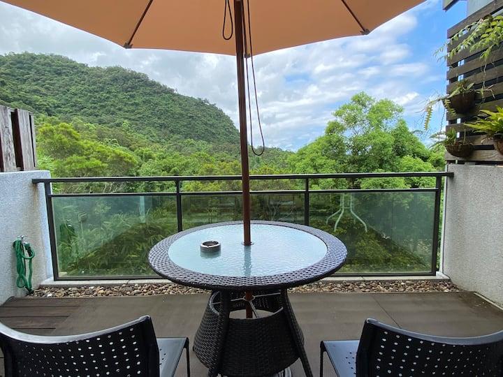 專屬礁溪Villa(溫泉.山景.龜山島景觀.泡腳池.麻將)