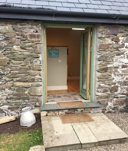 Front door into the Cowshed