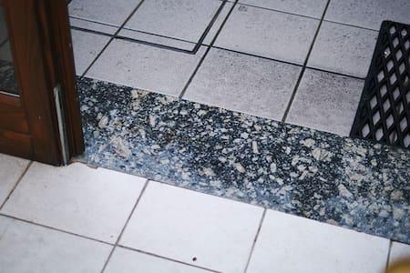Flat floor at the main entrance below