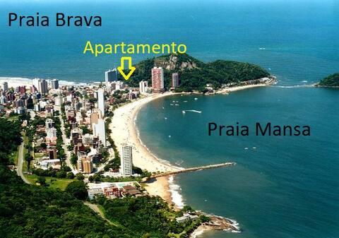 Caiobá ap entre a Praia Mansa e Brava