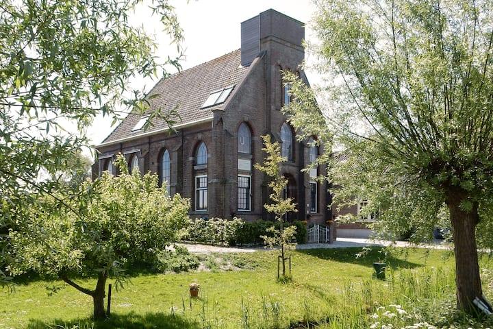B&B in a church near Amsterdam: Top floor room