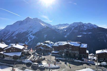 T2 Ski au pied - vue SUD panoramique - La Rosière