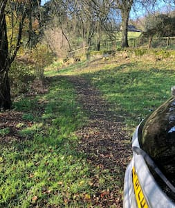 There is a 200 metre walk to the hut from the parking space the path is lit by sensors at each end.  Not tarmac and only suitable for the able bodied.  The Shepherds Hut is entered via 3 wooden steps with no hand rail.
