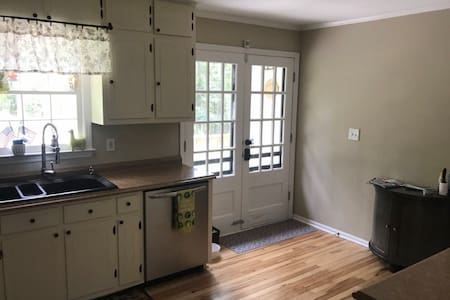 Front and back door are extra wide