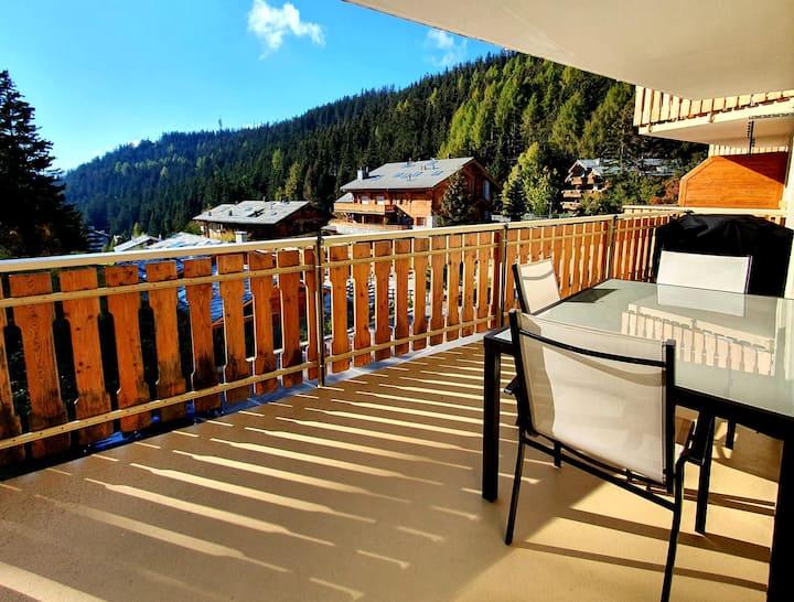 Crans-Montana,magnifique appartement calme et cosy