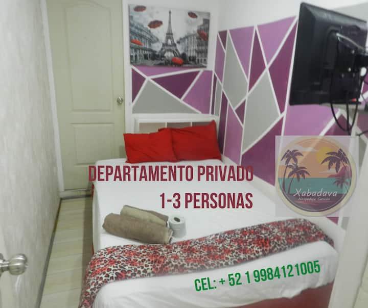 E-Estudio Privado 3- A 14 Min De Las Playas (3pax)