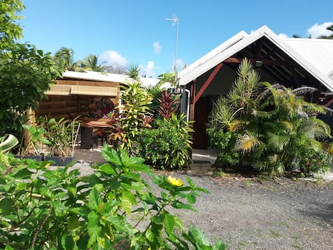 studio indépendant dans jardin tropical