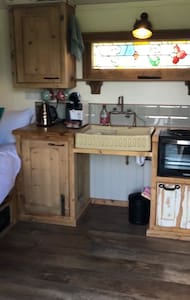 The Shepherd Hut is all on one level with no thresholds