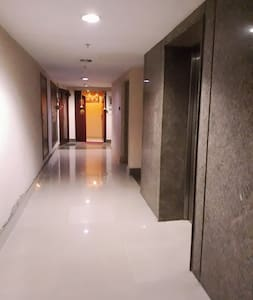 Well lit entrance and corridor