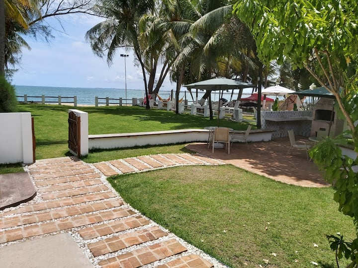 Beach front house - 3 bedrooms .