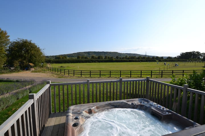 Red Kite Luxury 3 Bedroom Lodge with Hot Tub