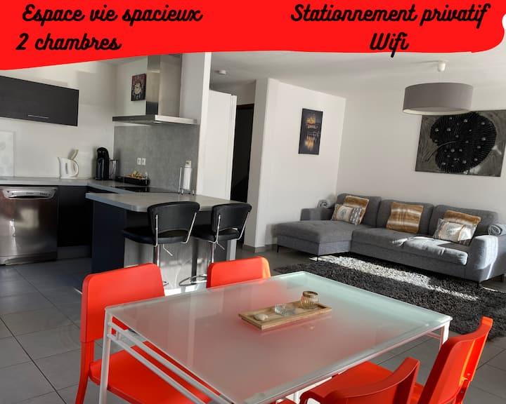 Appart'Hôtel Saint Anne,67m2,2 chambres,tt confort