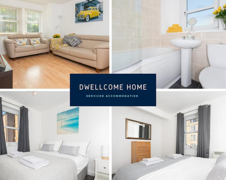 DWELLCOME HOME ABERDEEN 2 Bed FREE parking/WIFI