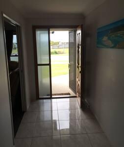 Door way is 760mm wide but back door is 1100mm wide