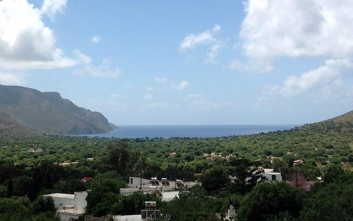Milios Studios in Tilos peaceful garden & sea view