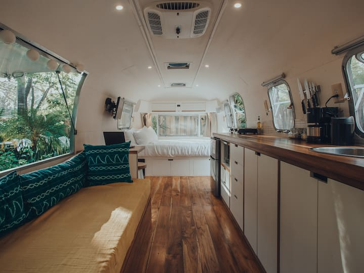 Newly renovated vintage Airstream steps from beach
