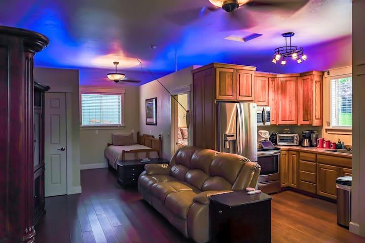 Living space with open floor plan