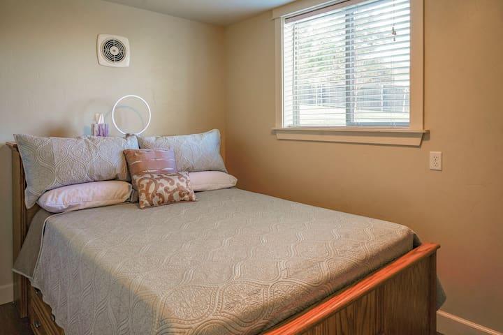 Queen bedroom with full size dresser