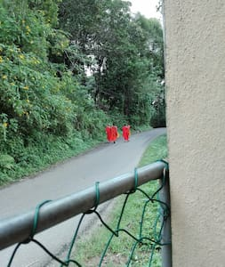 Entrance to LANKA PETER'S HOUSE from Wariyagala - Illagolla Road.