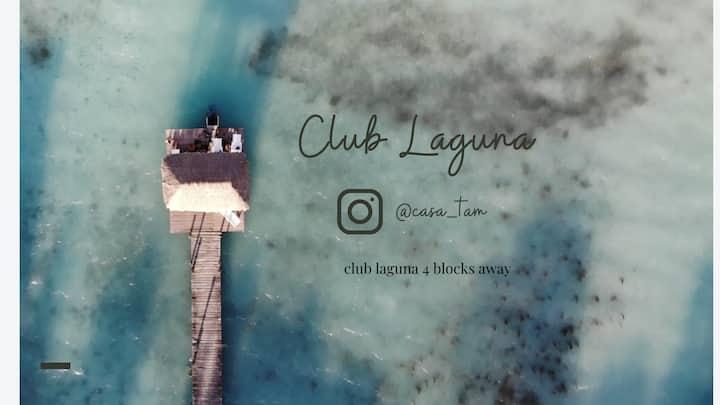Casa Reyna+lagoon club access (4 block away )