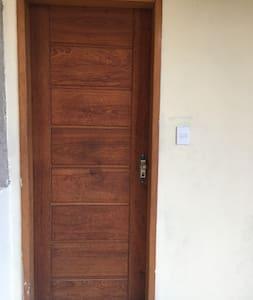 Porta de entrada das suítes
