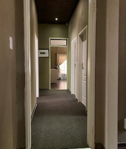 All bedrooms are on the ground floor. There is ample space around the bed for a wheelchair