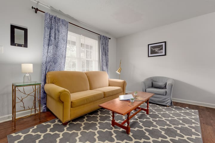 Relax on this comfortable sofa while streaming your favorite show or movie via Netflix! Also, if you need it, this couch pulls out into a comfortable, queen size bed.
