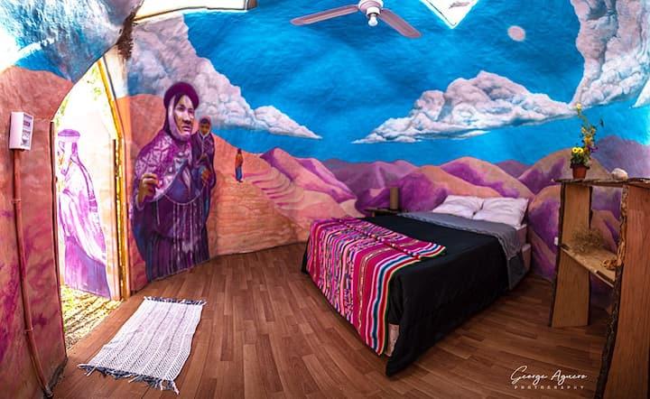 Habitacion doble en domo Quechua
