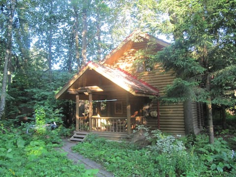 Forest cabin with sauna minutes away from Moscow