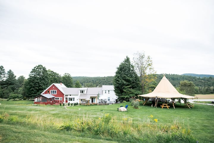 Gathering Place at the Modern Craftsbury Farmhouse