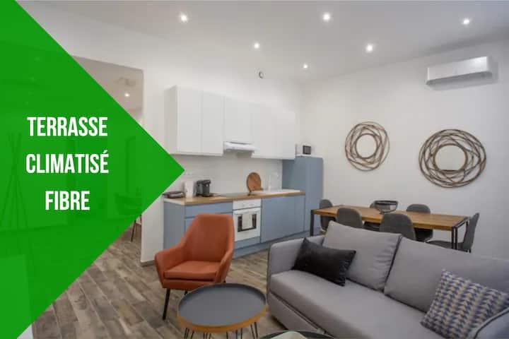 Appartement climatisé, FIBRE, magnifique terrasse