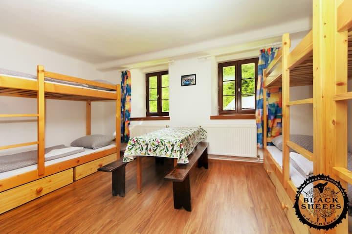 Six bed room Nr.3 Pension Black Sheeps Adventures