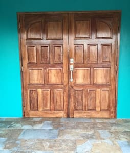 The front Doors to the Apt entrance is 72 inches