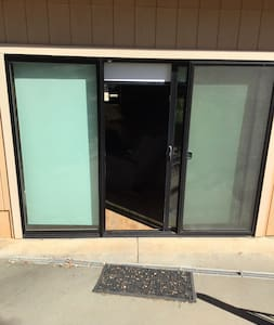 Siding glass door is one of the entrances with no steps or obstacles.